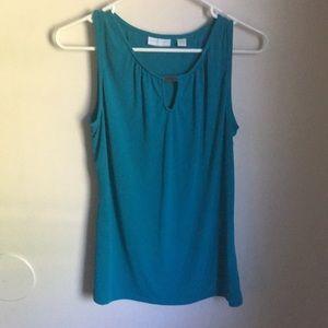 Blue blouse tank top